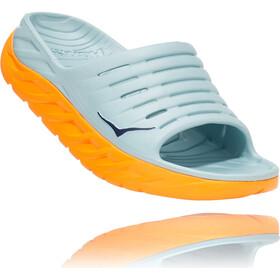 Hoka One One Ora Recovery Slide Sandalias Mujer, blue haze/bright marigold